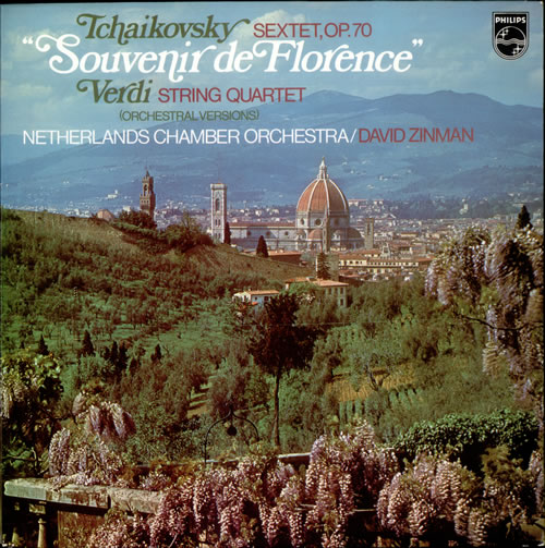 Netherlands Chamber Orchestra Tchaikovsky: Souvenir de Florence / Verdi: String Quartet vinyl LP album (LP record) Dutch O26LPTC534533