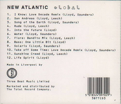 New Atlantic Global CD album (CDLP) UK NF2CDGL635113