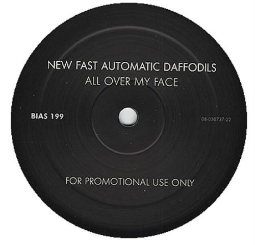 """New Fast Automatic Daffodils All Over My Face 12"""" vinyl single (12 inch record / Maxi-single) Belgian NFA12AL393996"""