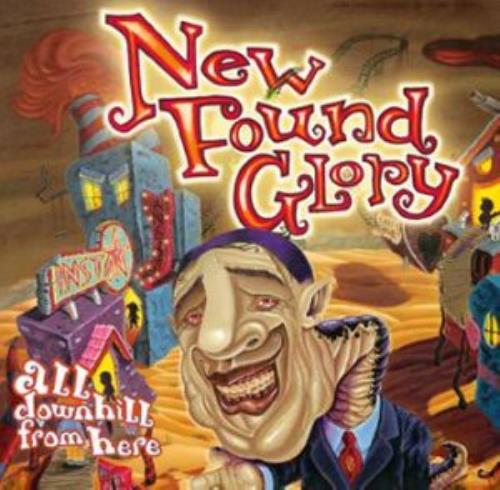 """New Found Glory All Downhill From Here CD single (CD5 / 5"""") UK NFGC5AL286730"""