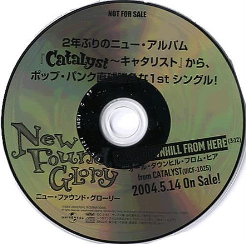 """New Found Glory All Downhill From Here CD single (CD5 / 5"""") Japanese NFGC5AL349731"""