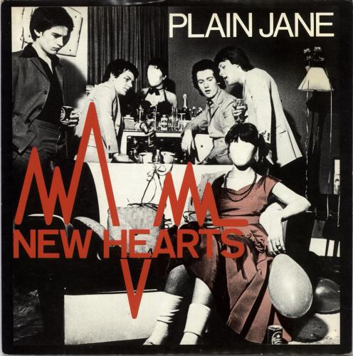 "New Hearts Plain Jane 7"" vinyl single (7 inch record) UK NE707PL702323"