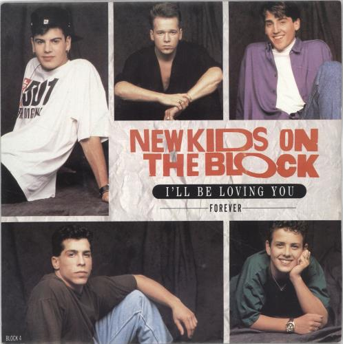 """New Kids On The Block I'll Be Loving You (Forever) 7"""" vinyl single (7 inch record) UK NKO07IL700823"""