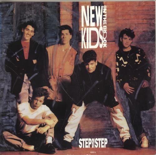 "New Kids On The Block Step By Step 12"" vinyl single (12 inch record / Maxi-single) UK NKO12ST237692"