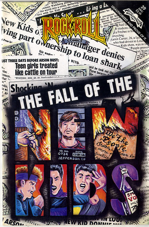 New Kids On The Block The Fall Of New Kids On The Block - Rock 'N' Roll Comic magazine US NKOMATH616733
