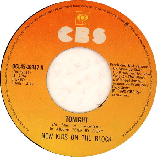 "New Kids On The Block Tonight 7"" vinyl single (7 inch record) Philippino NKO07TO637962"