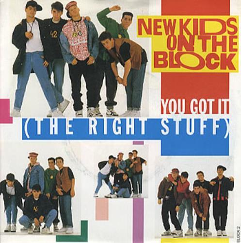 "New Kids On The Block You Got It (The Right Stuff) 7"" vinyl single (7 inch record) UK NKO07YO303531"