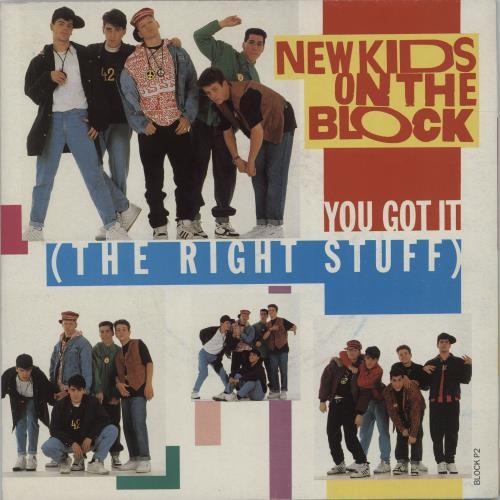 "New Kids On The Block You Got It [The Right Stuff] - Poster sleeve 7"" vinyl single (7 inch record) UK NKO07YO665236"
