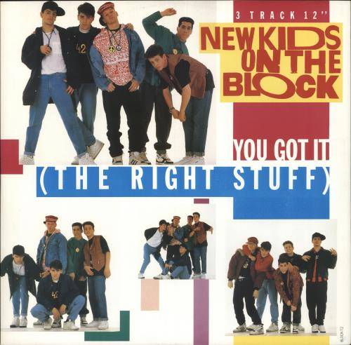 "New Kids On The Block You Got It [The Right Stuff] 12"" vinyl single (12 inch record / Maxi-single) UK NKO12YO237946"