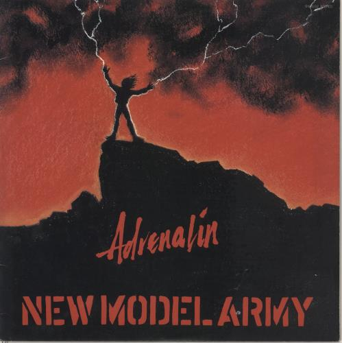 New Model Army Adrenalin vinyl LP album (LP record) Japanese NMALPAD723383