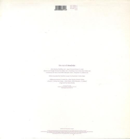 New Order [The Rest Of] New Order 2-LP vinyl record set (Double Album) UK NEW2LTH550163
