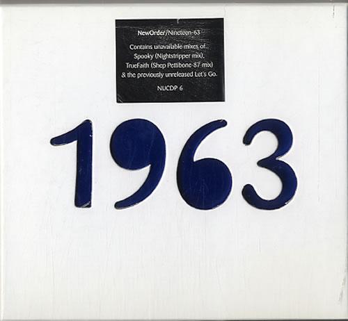 """New Order 1963 - Nineteen 63 - Individual sleeves CD single (CD5 / 5"""") UK NEWC5NI628543"""