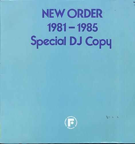 New Order 1981-1985 Special DJ Copy - VG vinyl LP album (LP record) Japanese NEWLPSP289735