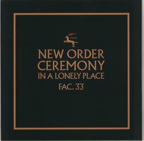 "New Order Ceremony (1) - 180gm 12"" vinyl single (12 inch record / Maxi-single) UK NEW12CE767472"