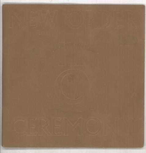 "New Order Ceremony 7"" vinyl single (7 inch record) UK NEW07CE14679"