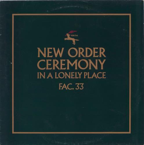 "New Order Ceremony 12"" vinyl single (12 inch record / Maxi-single) UK NEW12CE768916"