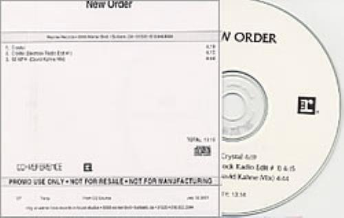 New Order Crystal CD-R acetate US NEWCRCR194392