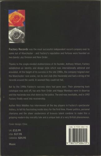 New Order From Joy Division to New Order: The Factory Story book UK NEWBKFR770857