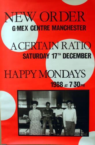 New Order G-Mex Centre Manchester 1988 poster UK NEWPOGM643301