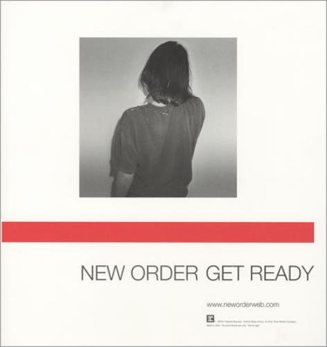 New Order Get Ready display US NEWDIGE199398