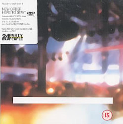 New Order Here To Stay DVD Single UK NEWDSHE211581