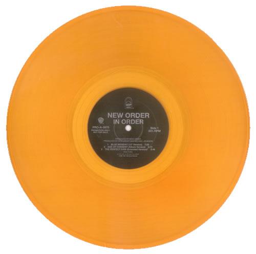 """New Order In Order - Orange Vinyl 12"""" vinyl single (12 inch record / Maxi-single) US NEW12IN15500"""