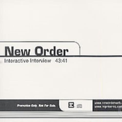 New Order Interactive Interview CD album (CDLP) US NEWCDIN203091