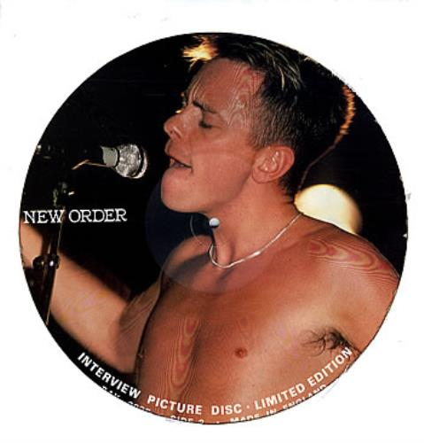 New Order Interview picture disc LP (vinyl picture disc album) UK NEWPDIN131420