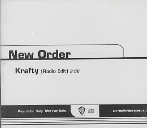 "New Order Krafty CD single (CD5 / 5"") US NEWC5KR319306"