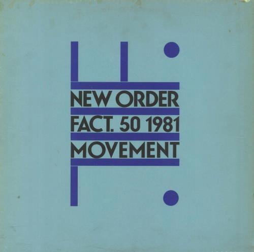 New Order Movement + inner - VG vinyl LP album (LP record) UK NEWLPMO769528