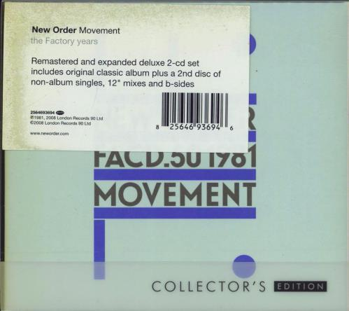 New Order Movement: Collectors Edition 2 CD album set (Double CD) UK NEW2CMO770874