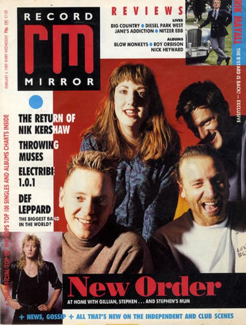 New Order Record Mirror magazine UK NEWMARE607742