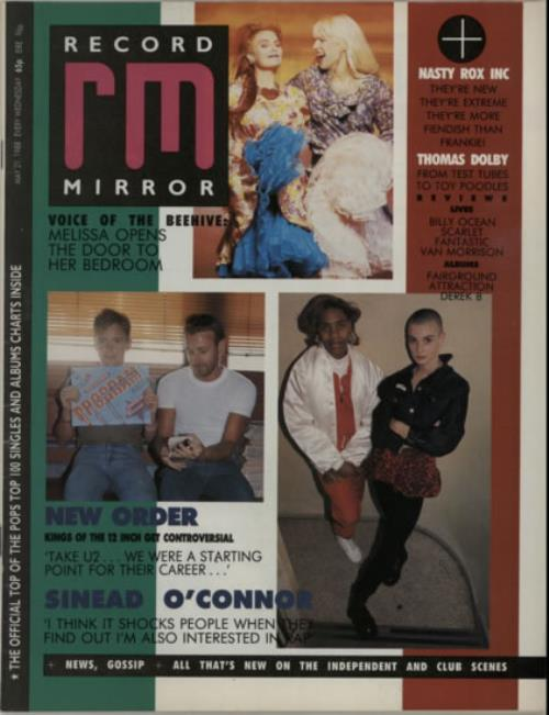New Order Record Mirror magazine UK NEWMARE607892
