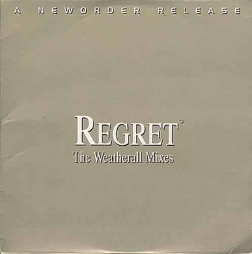 "New Order Regret CD single (CD5 / 5"") French NEWC5RE383401"