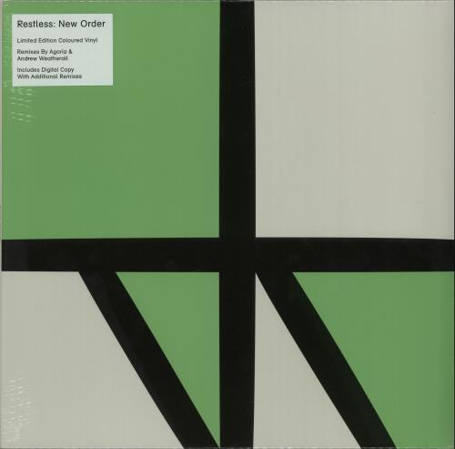 "New Order Restless - Green Vinyl - Sealed 12"" vinyl single (12 inch record / Maxi-single) UK NEW12RE653435"