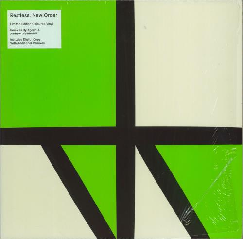 "New Order Restless - Green Vinyl 12"" vinyl single (12 inch record / Maxi-single) UK NEW12RE680185"