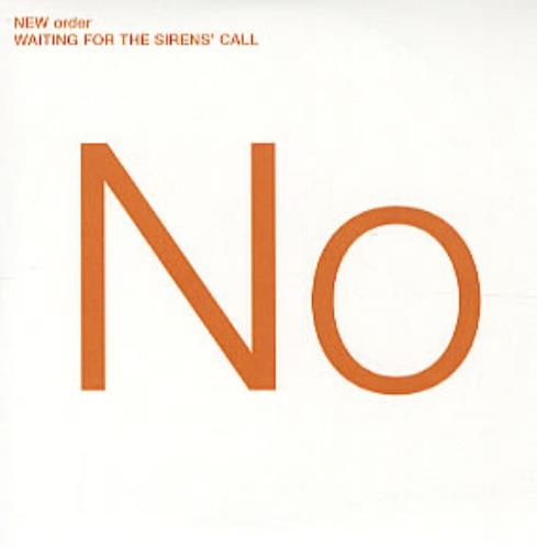 New Order Waiting For The Sirens' Call CD-R acetate UK NEWCRWA320240