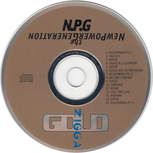 New Power Generation Gold Nigga CD album (CDLP) US NPGCDGO657632