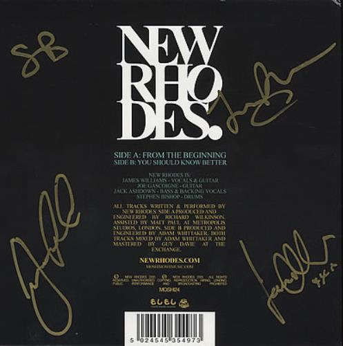 "New Rhodes From The Beginning - Fully Autographed! 7"" vinyl single (7 inch record) UK NAJ07FR369975"