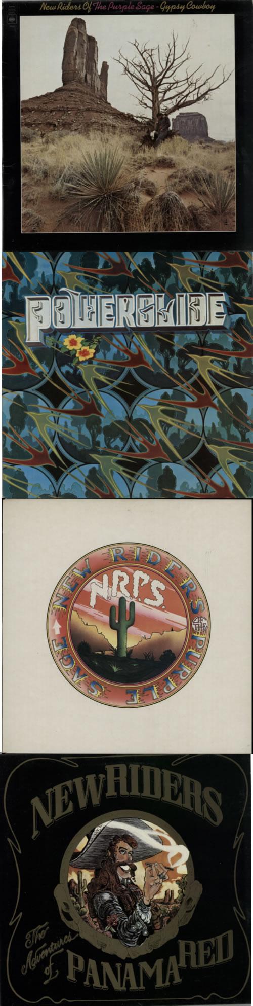 New Riders Of The Purple Sage 1971-1976 Studio Album Back Catalogue vinyl LP album (LP record) UK NRPLPST591974