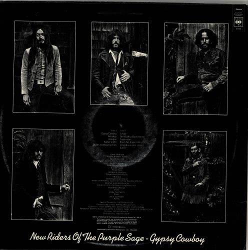 New Riders Of The Purple Sage Gypsy Cowboy - Graduated Label vinyl LP album (LP record) UK NRPLPGY702699
