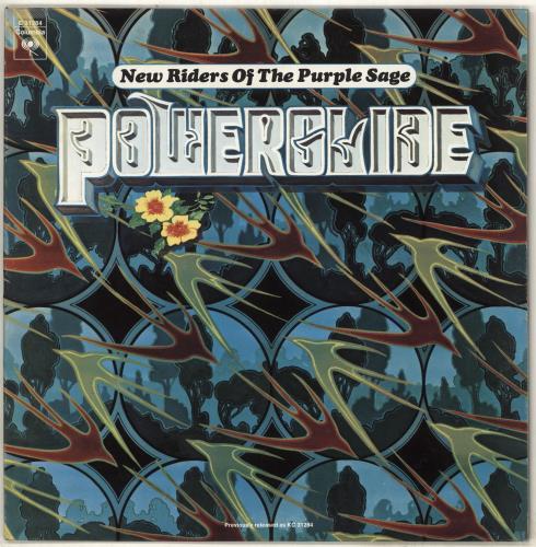 New Riders Of The Purple Sage Powerglide vinyl LP album (LP record) US NRPLPPO708243