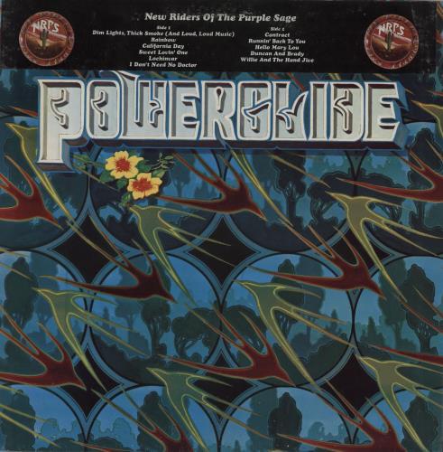 New Riders Of The Purple Sage Powerglide vinyl LP album (LP record) UK NRPLPPO755455