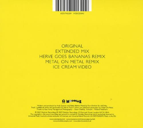 "New Young Pony Club Ice Cream CD single (CD5 / 5"") UK NPCC5IC405260"