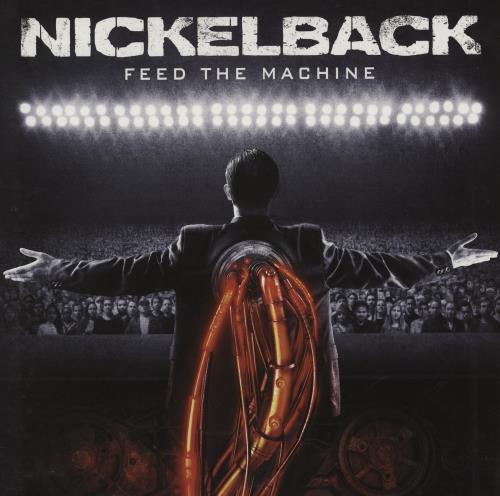 Nickelback Feed The Machine - Red/Black Marble Vinyl vinyl LP album (LP record) UK NLCLPFE752426