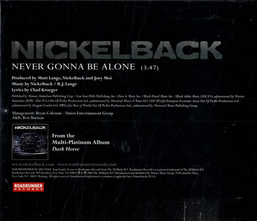 Nickelback Never Gonna Be Alone 2-disc CD/DVD set US NLC2DNE553761