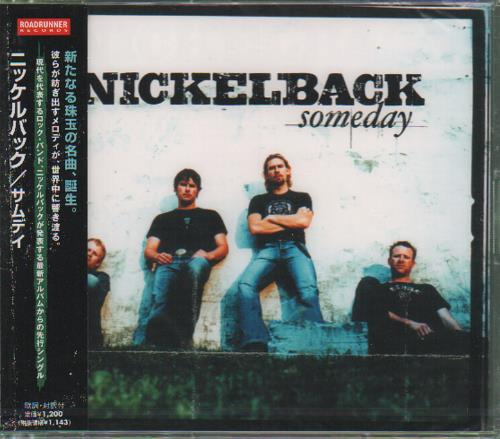 "Nickelback Someday CD single (CD5 / 5"") Japanese NLCC5SO251844"