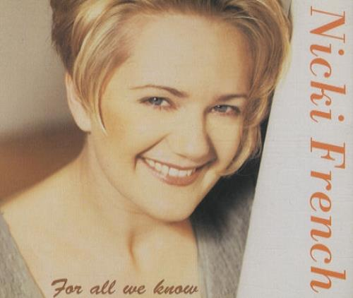 """Nicki French For All We Know CD single (CD5 / 5"""") UK NKFC5FO57558"""