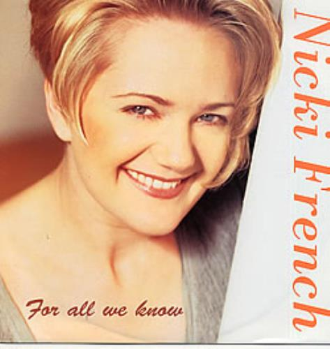 """Nicki French For All We Know 12"""" vinyl single (12 inch record / Maxi-single) UK NKF12FO72035"""