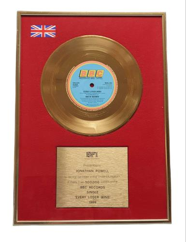 Nick Berry Every Loser Wins award disc UK NKBAWEV747837